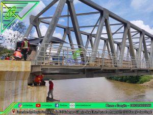 Jacking Up Jembatan Rangka - Kalimantan Utara