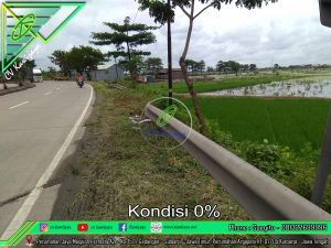 Pemasangan Guardrail di Batang